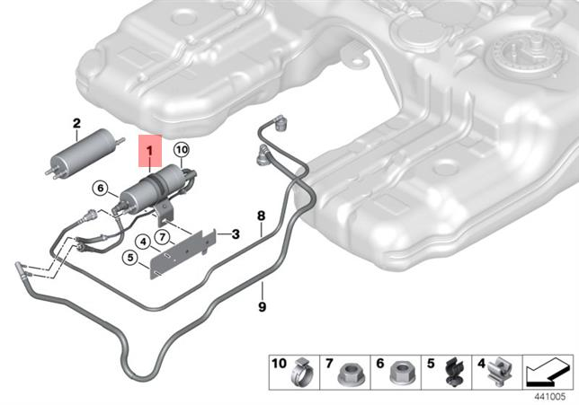 Genuine BMW X5 E70 Fuel Filter Pressure Regulator Repair Kit OEM  16127236941   eBay   X5 Fuel Filter      eBay