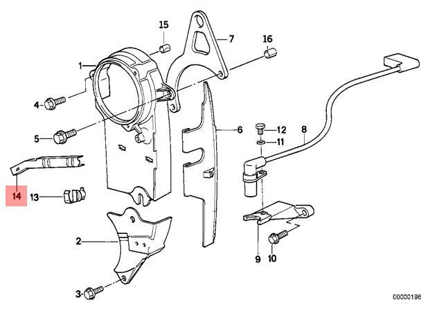 details about genuine bmw e28 e30 e34 z1 cabrio timing belt holding cover  oem 11141716133
