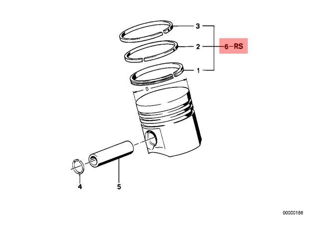genuine bmw m3 m5 m6 e24 e28 e30 repair kit 1x piston