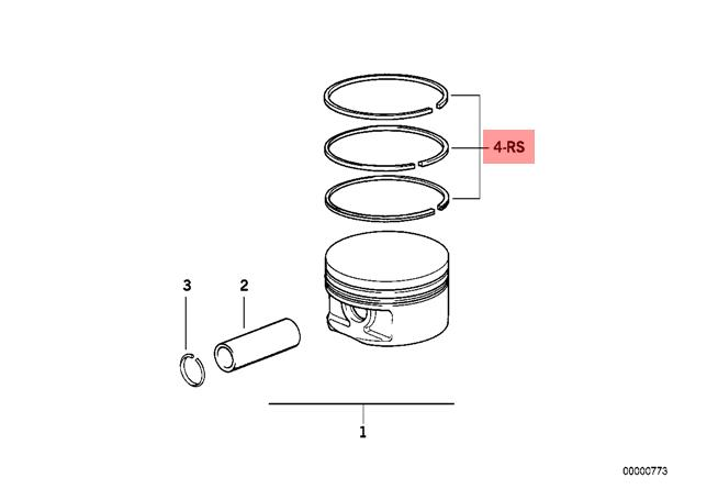 genuine bmw 3 series e36 e46 z3 m43 repair kit 1x piston
