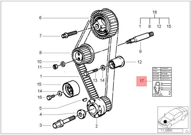 genuine bmw e12 e21 e28 e30 e34 e36 timing belt change