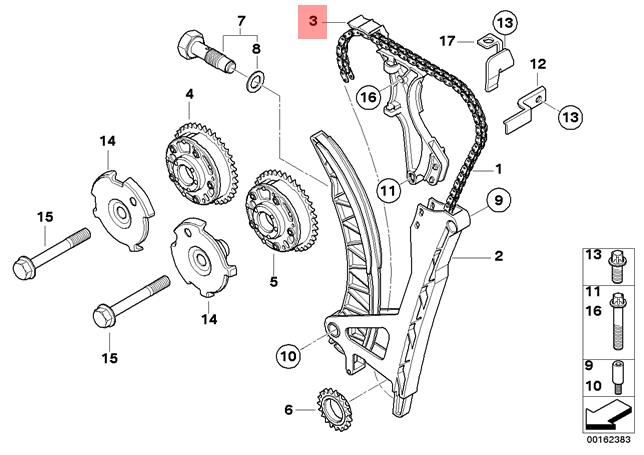 genuine bmw e46 e81 e87 e87n e90 e90n timing chain guide