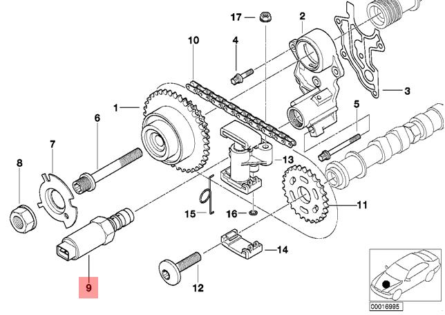 genuine bmw e38 e39 x5 e53 vanos solenoid variable valve