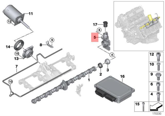 Genuine Bmw E53 E60 E60n Eccentric Shaft Camshaft Sensor