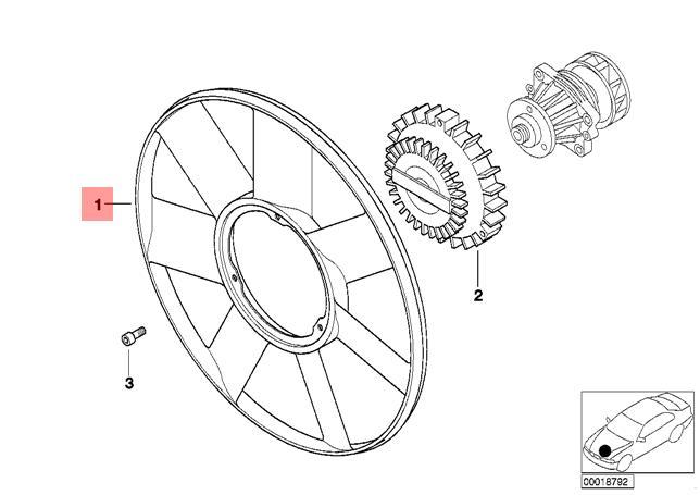 Genuine Bmw E38 E39 E46 E53 E65 Radiator Cooling Fan 420mm Oem