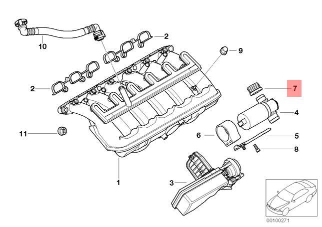 Genuine BMW E38 E39 E46 E53 E60 Z3 Idle Control Valve Grommet OEM 11611437453