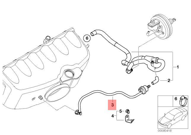Genuine Bmw E46 Coupe Engine Air Shut Off Vacuum Valve Oem