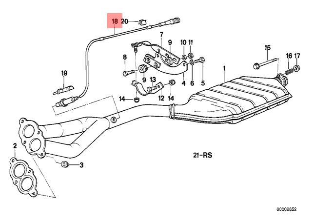 genuine bmw e30 convertible coupe lambda oxygen sensor