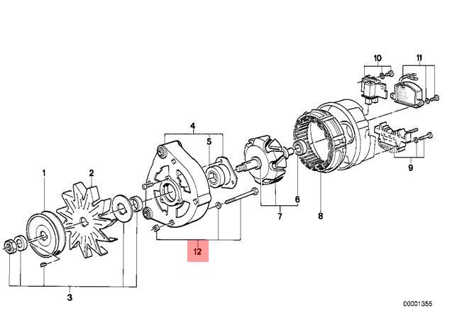 genuine bmw 3 5 series e30 e28 e34 alternator screws