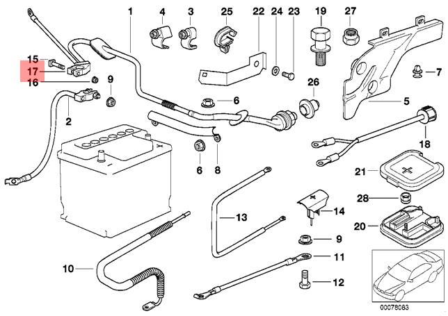 genuine bmw e38 e39 repair kit for car battery terminal