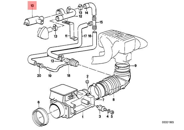 genuine bmw e28 e30 fuel injection idle air control valve