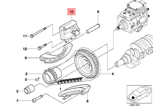genuine bmw e39 e46 sedan wagon chain tensioner oem