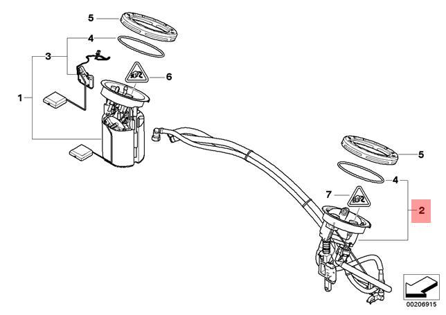 genuine bmw e81 e82 fuel filter   pressure regulator
