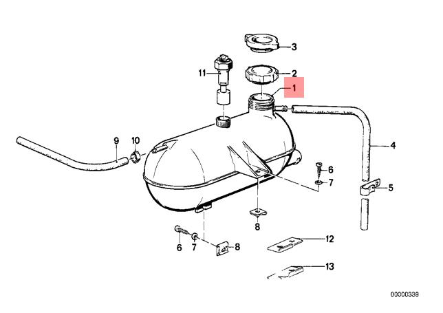 BMW E28 E60 533i 535i 524td Genuine Engine Coolant Recovery Tank 17111178252