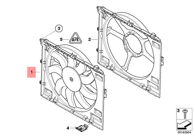 Genuine Bmw E90 E90n E92 E92n E93 Radiator Cooling Fan 850w Oem