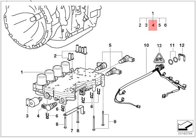 genuine bmw e39 e46 e53 z3 at transmission solenoid valve