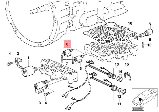 Genuine Bmw E34 E36 Z3 At Solenoid Valve 1st 2nd 3th 4th Gear Oem