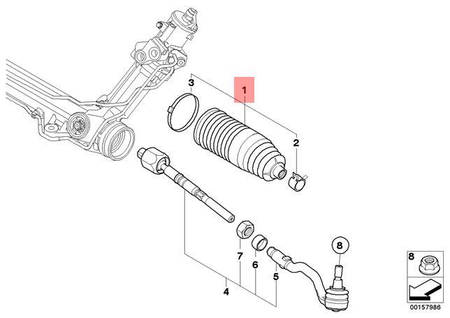 For 2006 BMW 325i Steering Rack Boot Kit Lemfoerder 21432JY