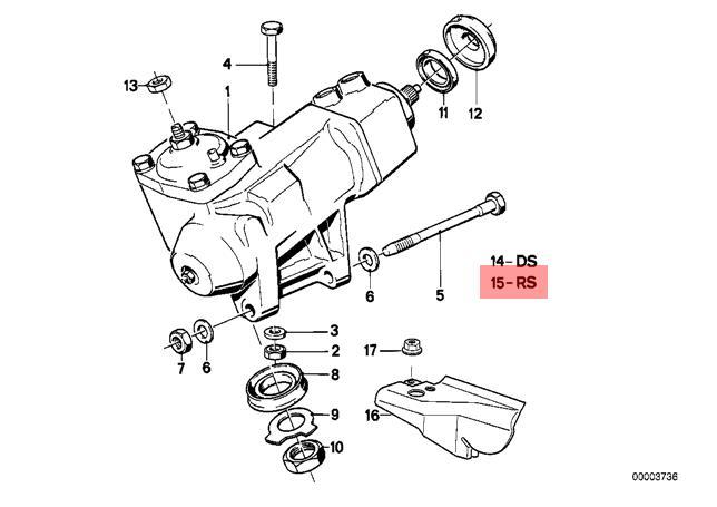 genuine bmw 5 6 series e28 e24 hydro steering box repair