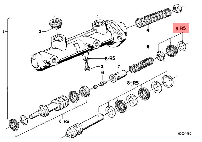 genuine bmw 7 series e23 brake master cylinder repair kit oem 2016 BMW 7 Series Concept pictures