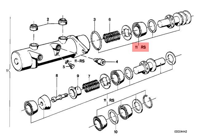 genuine bmw 3 series e21 saloon brake master cylinder