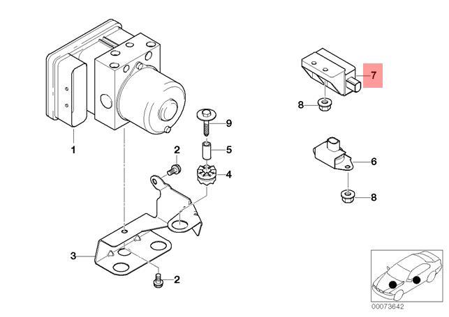 genuine bmw e46 z3 cabrio dsc rate rotational speed sensor oem 1999 BMW 320D pictures