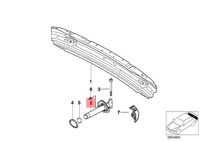 Genuine BMW E39 Sedan Wagon Door Molding Left Rear OEM 51138184479