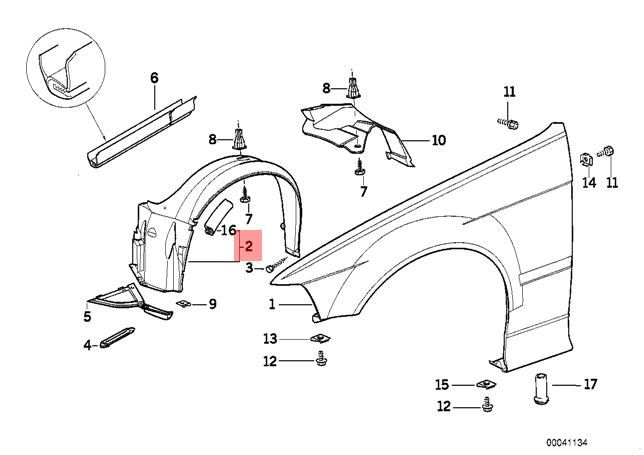 Garage-Pro Fender Liner for BMW 3-SERIES 06-12 FRONT RH Front Section w//Sport Pkg Wagon