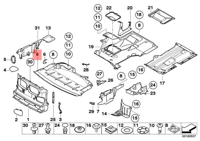 Genuine BMW E39 Sedan Engine Splash Shield Undercar Front OEM 51718159981 |  eBayeBay