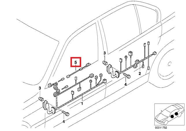 Genuine Bmw E38 E39 Estate Adapter Wire F Airbag Module Oem