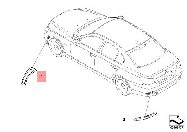 Genuine Bmw E60n E61n Sedan Reflector Bumper Cover Right Oem