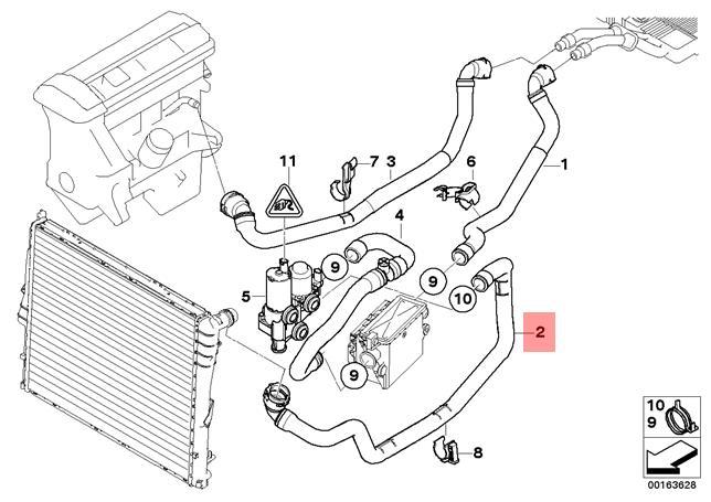 Genuine Bmw E83n Suv Hose Heater Control Valve Engine Feed Oem