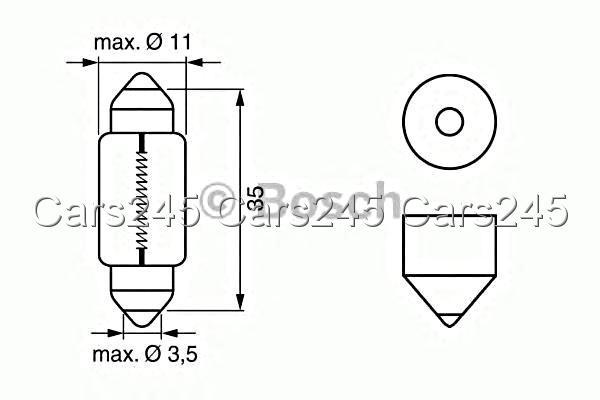 C5w Interior Light Bulb 1pcs 12v 5w Pure Light Bosch