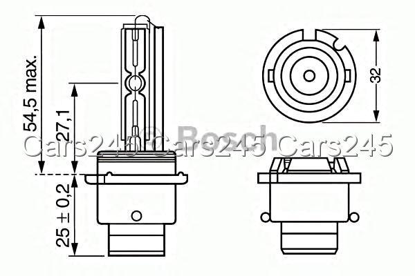 Bosch Bulb 1pcs D2s 35w P32d 2 Xenon 1987302904 Ebay