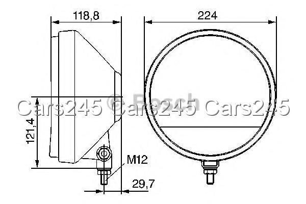 bosch rallye 225 fernscheinwerfer h3 12v 24v 0306003002 ebay. Black Bedroom Furniture Sets. Home Design Ideas