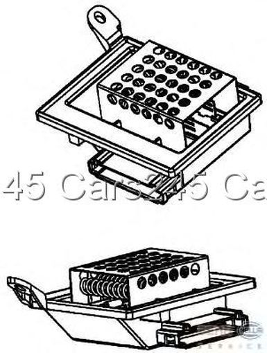 Mercedes Vito Bus W639 Viano Hella Ac Heater Blower Motor Resistor