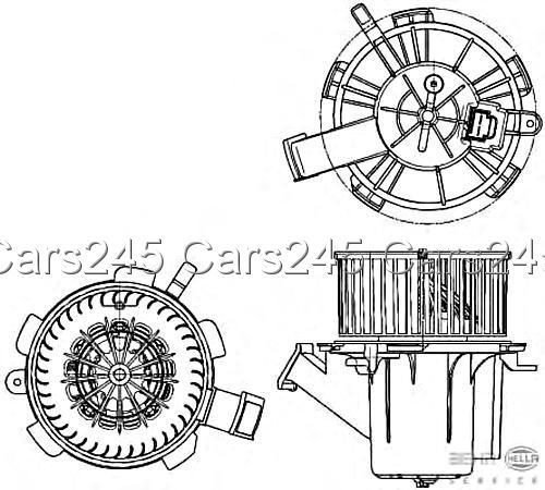 hella behr heater blower motor 8ew351040