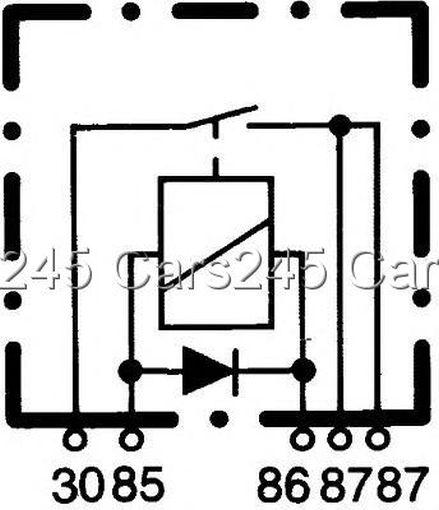 hella normally open relay current control unit 12v 4ra933791