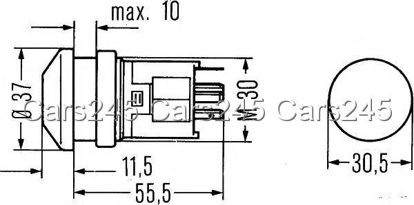 hella hazard light switch 6hf003916