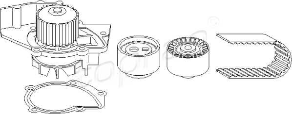 timing belt kit   water pump fits citroen c5 i 1 berlingo