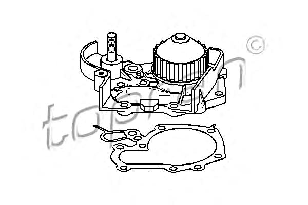 water pump fits renault clio 19 i ii chamade 1 2